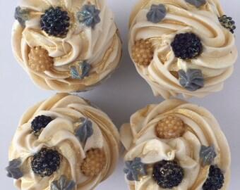 Soap Black Raspberry Vanilla Cupcakes Artisan Soap, Cold Process Soap, Handcrafted Soap