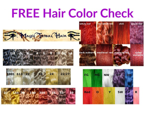 HAIR COLOR CHECK free color advice for hair falls up to 22