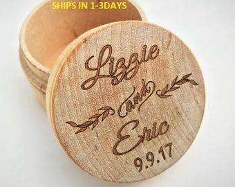 Wedding Ring Box, Ring Bearer Box, Wedding Ring Keepsake, Ring Box, Jewelry Box, Wood Box, Rustic Ring Box, Wedding, Wooden Trinket Box