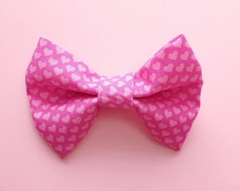 Love You Forever // Dog Bow Tie // Cat Bow Tie // Pink Bowtie // Dog Accessories // Love Bowtie // Valentine's Day Bowtie // ON SALE