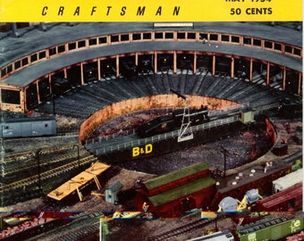Railroad Model Craftsman Trains Magazine May 1954 Excellent Condition
