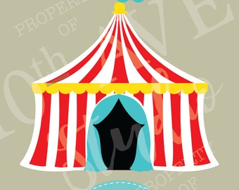 Carnival~Circus~Big Top Tent SVG/PNG/EPS/dxf Clipart and cut files