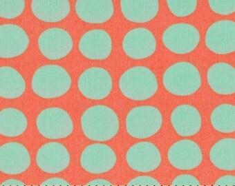 11210-  1/2 yard Amy Butler Sun spots in tangerine color -1/2 yard