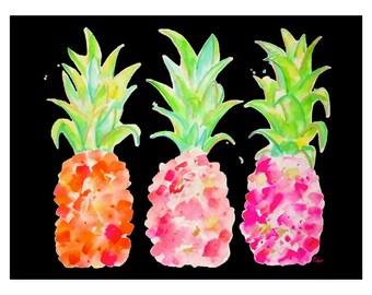 Pineapple Wall Art-Pink-Pineapple Art-Pineapple Decor-Pineapple Painting-Pineapples-Pineapple Print-Kitchen Decor-Wall Decor-Home Decor