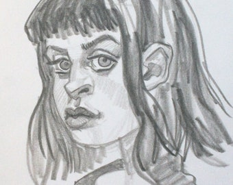 Hard to Win Over, graphite on cotton paper, 6x9 inches by KennEy Mencher