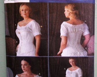 The Fashion Historian Simplicity No. 7215 Sewing Pattern Martha McCain Women's Chemise Corset Nightdress L XL UNCUT factory folded Size RR