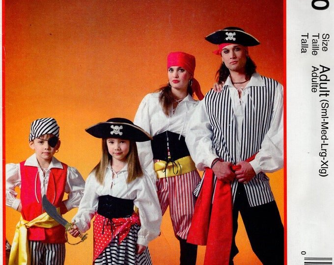 FREE US SHIP McCalls 250 4952 Sewing Pattern Adult S-Xl Kids 3/8 Costume Pirates of the Caribbean Jacket Vest Shirt New