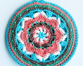 Set of 2 pot holders, mandala