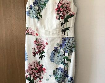 Hydrangea Print Dress (UK size 10)