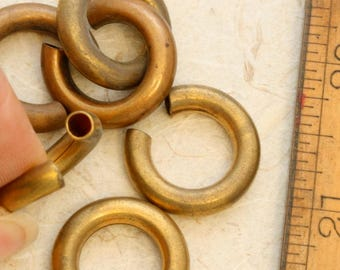Brass noodles. Vintage brass. Priced per piece. Beadwork, Jewelry making, Jewelry supply.
