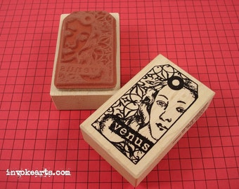Venus Tag Stamp / Invoke Arts Collage Rubber Stamps