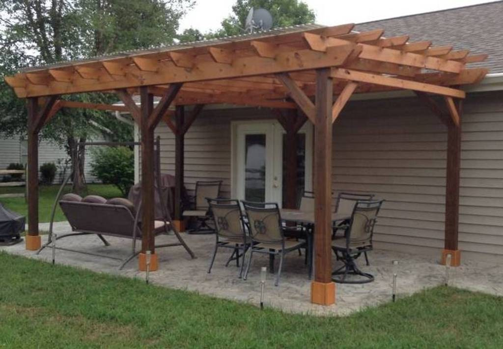 Covered pergola plans 12x24 39 outside patio wood design for Design your own gazebo