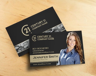 Century 21 business card real estate custom design print century 21 business card real estate business card design realtor business card brokerage colourmoves Gallery