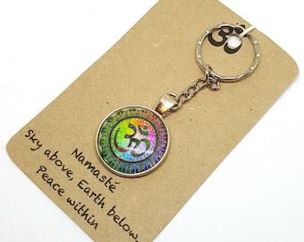 Namasté Yoga Keyring, Keychain, Bag Charm
