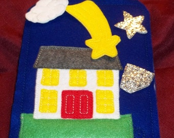 Twinkle Star Story Board  Story Board house w grass anrd comes with glittery star, glittery diamond, world, cloud, moon and shooting star