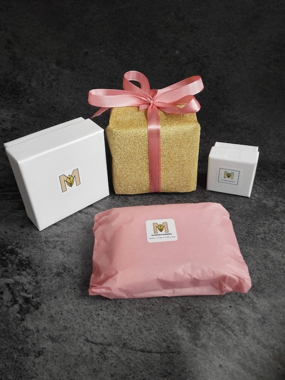 Gift Wrapping Service Upgrade Resin jewellery in gold foil paper and burlap ribbon Gift packaging gardening gift for her mothers day gift