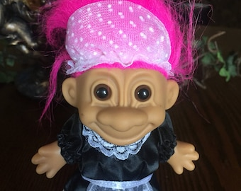 Vintage trolls french maid troll doll collectables