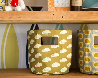 Gold Cloud Canvas Storage Basket