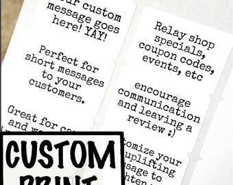 100 CUSTOM PRINT labels -Clear Gloss, White or Kraft brown 1 1/2 x 1 rectangle Custom Stickers - custom text, wedding favors, packaging