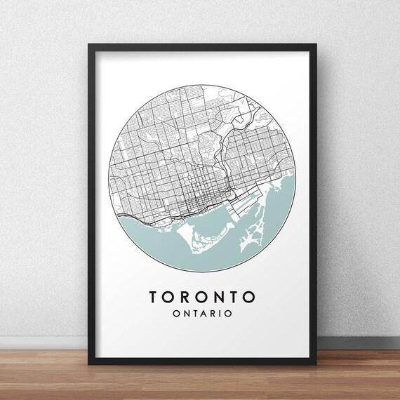Toronto city print street map art toronto map poster gumiabroncs Choice Image