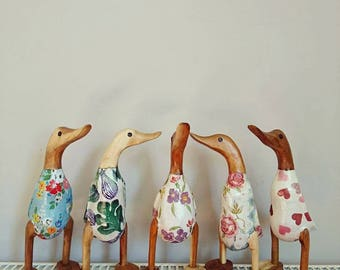 Duckling~wooden~decoupage~Emma Bridgewater~shabby chic~pretty~gift idea~gift for her~home~ornament~decorative~cute~baby~floral