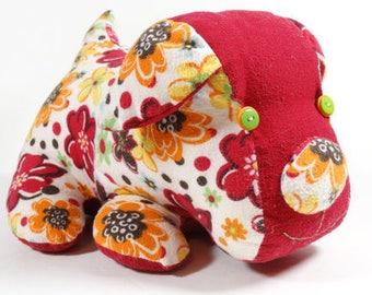 Toy Dog - Cloth Puppy Dog - Dog Pillow - Handmade Stuffed Flannel Doggie Pillow Toy - Stuffed Dog