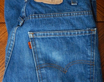 Levi 517 mens boot cut jeans, late 70's