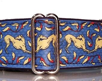 Jane Walker's Art Nouveau Blue Martingale Collar-