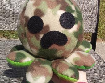 Creeper octopus, minecraft plushie, creeper minecraft, stuff animal octopus