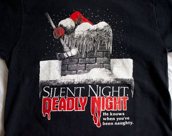 90s Silent Night Deadly Night shirt - Vintage SNDN tshirt - 1991 VHS release