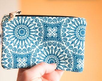 minimalist wallet / vegan coin purse / mandala pouch / boho