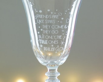 Special Friend Engraved Wine Glass