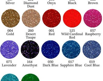"""FDC3700 Glitter Adhesive Vinyl 12""""x12"""" Sheets - lots of colors to choose from!  SHIPS WITHIN 24 HOURS"""