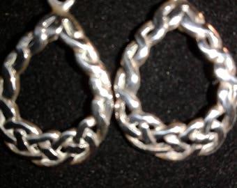 sterling silver Celtic knot work dangle earrings #11