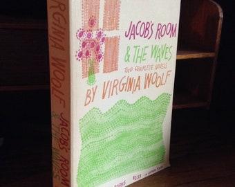 De Jacob salle et les vagues de Virginia Woolf, livre vintage, livre de poche, 1959, femme, auteur féministe, livre de poche, Bibliophile cadeau