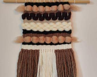 Handwoven wall hanging/ Handmade Tapestry/Weaving/Handloom/Natural tones