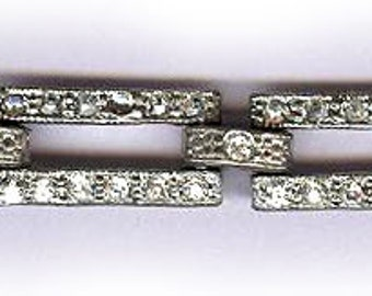 vintage ART DECO rhinestone bracelet wear or repurpose for the ten separate sections antique bracelet bridal bracelet