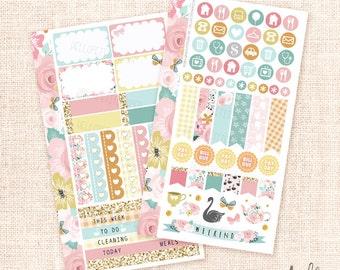 Secret Garden - Personal planner sticker kit