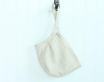 Natural Linen Bonnet