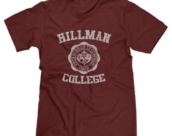 Hillman College A Different World 80s Funny Student Alumni Parody T-shirt Tee