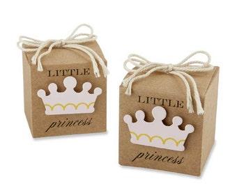 24 Little Princess Favor Boxes Baby Shower Favors Baby Girl Shower Favor Boxes