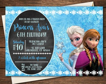 Frozen Invitation   Frozen Birthday   Frozen Party   Frozen Invitation   Elsa Party  Princess Party   Elsa Invitation   Elsa Party   Elsa