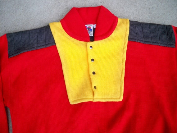 Colorful Sweater XLarge Pullover Men's Vintage Jacket XL Wool Size 100 Peregrine Rockabilly Hong Kong in Made YSHSvI