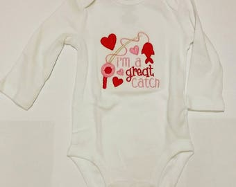 I'm a Great Catch Embroidered Onesie