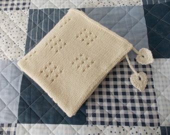 Baby knit plaid, rug, natural color, soft, gift