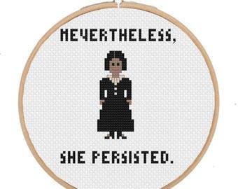 Harriet Tubman Feminist Cross Stitch Pattern