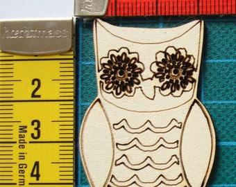 OWL 1605 embellishment wooden creations