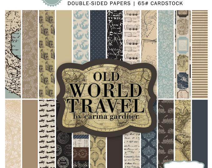 Carta Bella OLD WORLD TRAVEL 6x6 Scrapbook Paper Pad