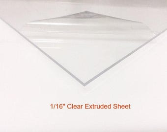 "Clear Acrylic Plexiglass Sheet- 1/16"" Thick Extruded"
