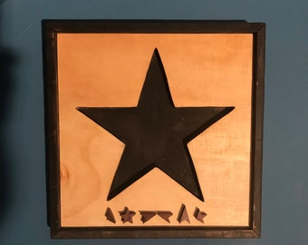 David Bowie - 'Blackstar' Wooden Record Cover Wall Art